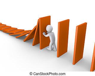 persona, effetto domino, blocca il funzionamento