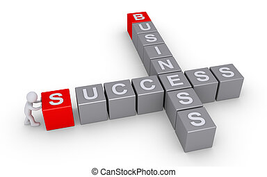 persona, formas, un, éxito, en, empresa / negocio, crucigrama