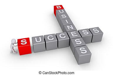 persona, forme, uno, successo, in, affari, cruciverba