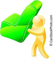 persona, garrapata, verde, tenencia