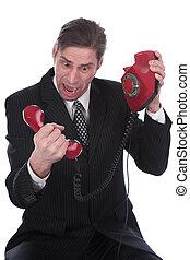 persona, habla, teléfono