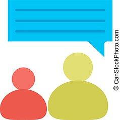 persona, hablar, uno