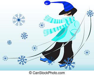 persona, invierno