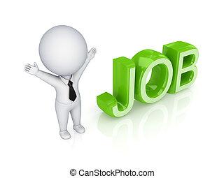 persona, job., 3d, parola, piccolo