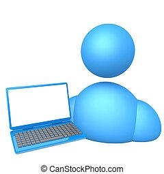 persona, laptop