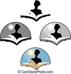 persona, leer un libro