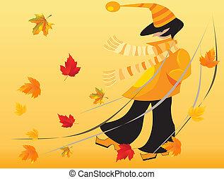 persona, otoño
