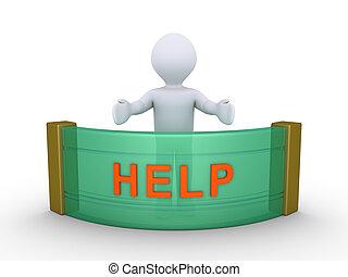 persona, proporcionar, ayuda