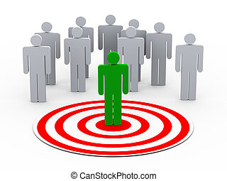 persona, selección, grupo, 3d, gente