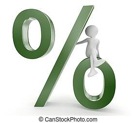 persona, simbolo, percento