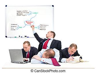 persona, singolo, squadra affari