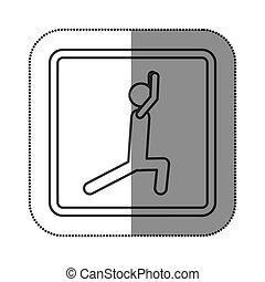 persona, tendendo esercizio, figura, icona