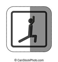 persona, tendendo esercizio, icona