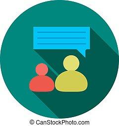 persona, uno, hablar