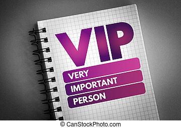 persona, vip, muy, importante, siglas, -