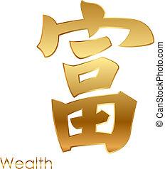 personagem, bom, chinês, fortuna