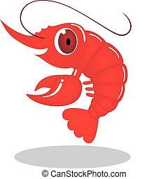 personagem, camarão