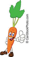 personagem, caricatura, cenoura