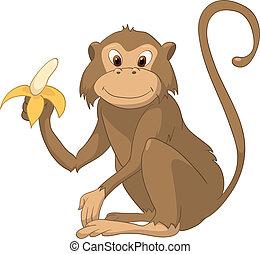 personagem, caricatura, macaco