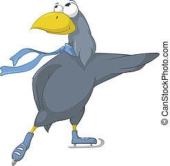 personagem, caricatura, pássaro