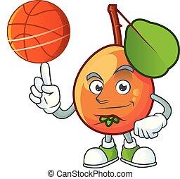 personagem, fruta, shipova, basquetebol, caricatura, logotipo