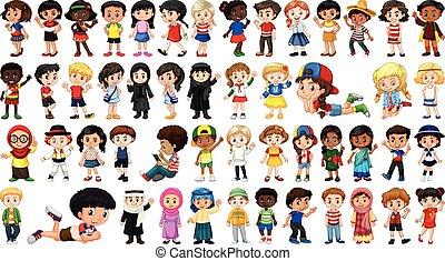 personagem, jogo, multicultural