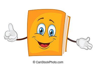 personagem, livro, .vector, caricatura, illustration.