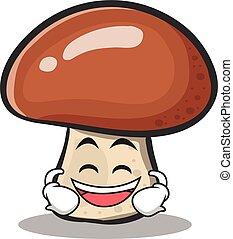 personagem, rir, cogumelo, caricatura
