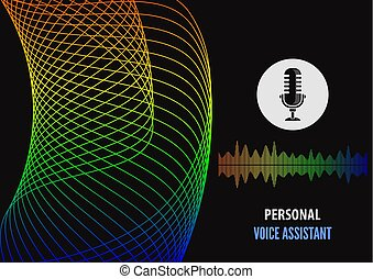 Personal assistant and voice recognition concept. Vector illustration