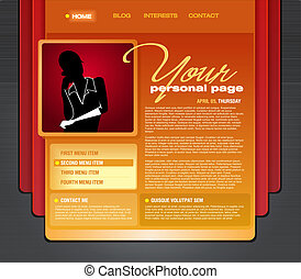 Personal Blog Web Page Template