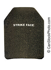 Ballistic insert ~ 5 lbs., withstands 7.62mm x 51mm M-80 Ball and 7.62mm x 54mm LPS. Used for soldier protection. Strike Face = side that faces the strike. 12MP camera.