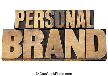 personal brand in wood type