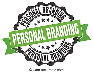 personal branding stamp. sign. seal