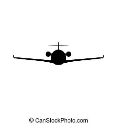 Personal business airplane silhouette