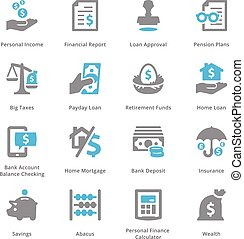 Personal & Business Finance Icons Set 1 - Sympa Series