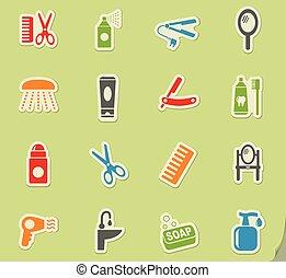 personal care icon set