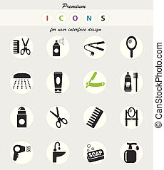 personal care icon set - personal care web icons for user...