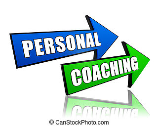 personal coaching in arrows - text personal coaching in 3d...