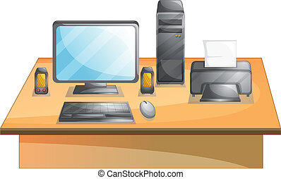 Personal computer - Illustration of a set of personal ...