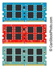 Personal computer memory module. RAM.