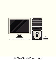 Personal computer vector Illustration on a white background