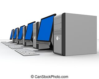 personal computers - 3d rendered illustration od computers ...