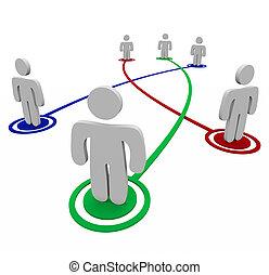 personal, conexiones, sociedad, -, enlaces