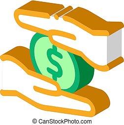personal control over money isometric icon vector ...
