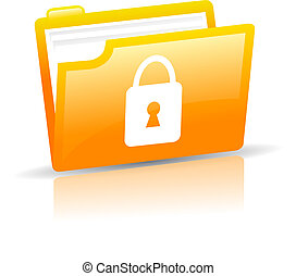Personal data protection, vector icon