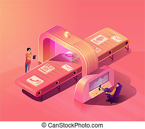 Personal Data Security Scanning Vector Concept