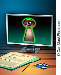 Personal data - Using internet to steal personal data. ...