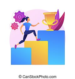 Personal development abstract concept vector illustration. Develop talents potential, personal career growth, human capital, can do it, social abilities, self improvement, coach abstract metaphor.