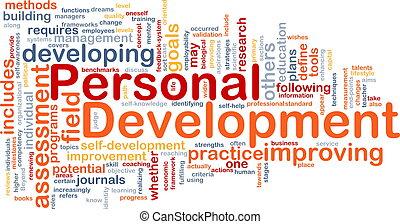 Personal development background concept