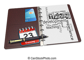Personal development concept in word tag cloud